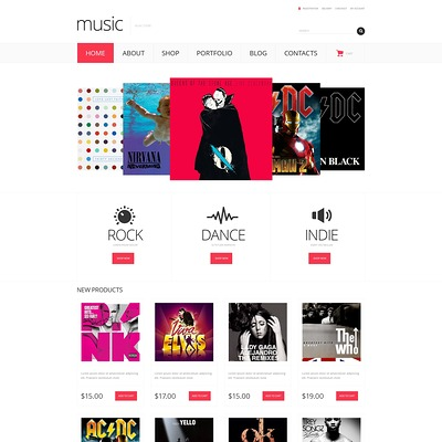 Music Store Responsive WooCommerce Theme (WooCommerce theme for music stores) Item Picture