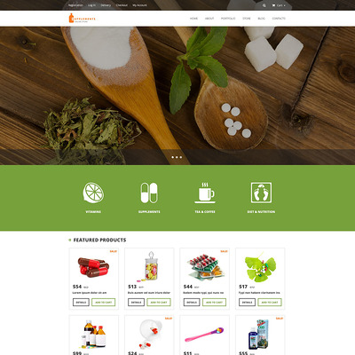 Nutrition Supplements WooCommerce Theme (WooCommerce theme for health and medical stores) Item Picture