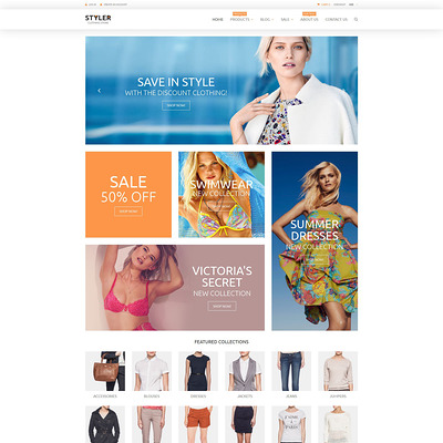 Original Clothing Shopify Theme (parallax Shopify theme) Item Picture