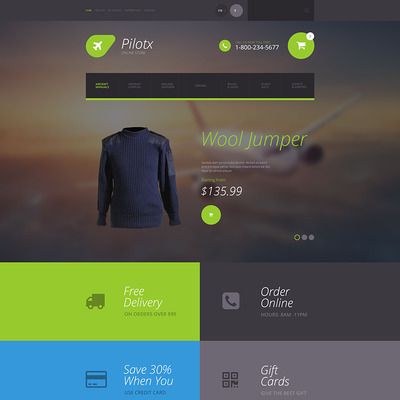 Pilotx OpenCart Template (OpenCart theme for clothing stores) Item Picture