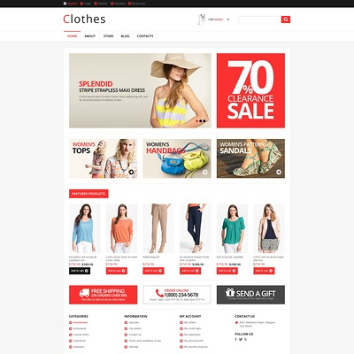 Responsive Clothes Store WooCommerce Theme (WooCommerce theme for selling clothing for men and women) Item Picture