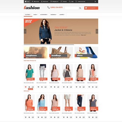 Responsive Fashion Store OpenCart Template (OpenCart theme for clothing stores) Item Picture