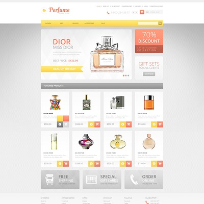 Responsive Perfumes Store OpenCart Template (OpenCart theme for selling cosmetics, hair products, and perfumes) Item Picture