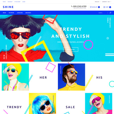 Shine OpenCart Template (OpenCart theme for clothing stores) Item Picture