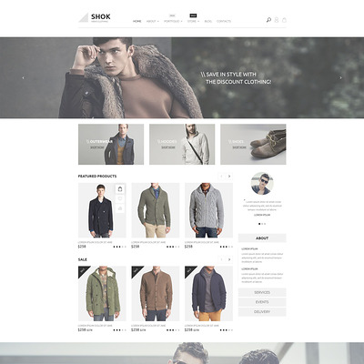 Shok WooCommerce Theme (WooCommerce theme for selling clothing for men and women) Item Picture