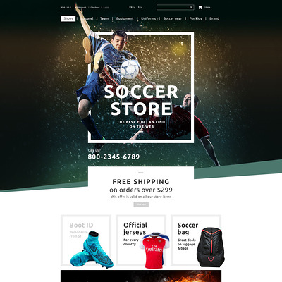 Soccer Shop OpenCart Template (OpenCart theme for sports, gym, and fitness stores) Item Picture
