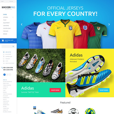 SoccerPro OpenCart Template (OpenCart theme for sports, gym, and fitness stores) Item Picture