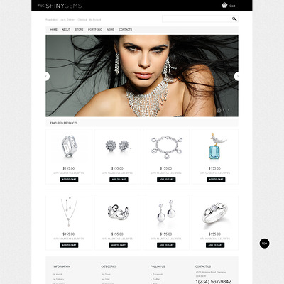 Sparkling Jewels WooCommerce Theme (WooCommerce theme for selling jewelry and watches) Item Picture