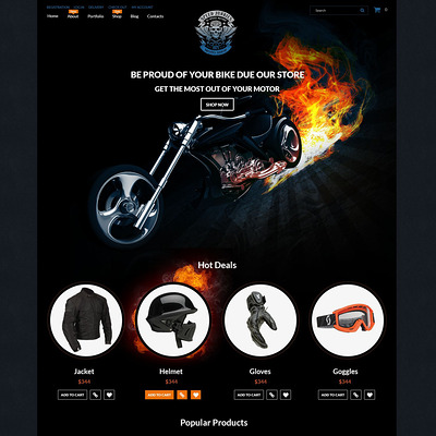 Speed Junkies WooCommerce Theme (WooCommerce theme for car, vehicle, and automotive stores) Item Picture