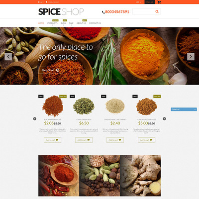 Spices for Cooking Shopify Theme (parallax Shopify theme) Item Picture