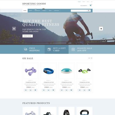 Sporting Goods WooCommerce Theme (WooCommerce theme for sports, gym, and fitness stores) Item Picture