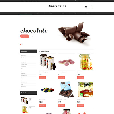 Sweet Shop Responsive WooCommerce Theme (WooCommerce theme for selling food and spices) Item Picture