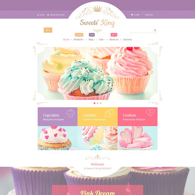 Sweets' King Shopify Theme (parallax Shopify theme) Item Picture