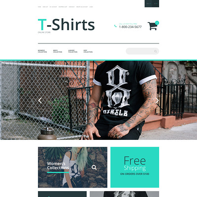 T-Shirt Stock OpenCart Template (OpenCart theme for clothing stores) Item Picture