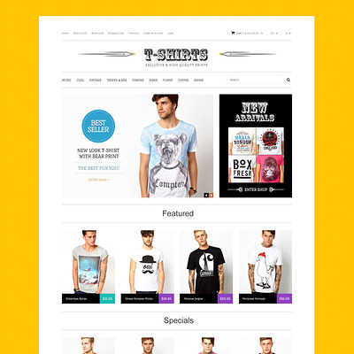TShirts with Uncommon Prints OpenCart Template (OpenCart theme for clothing stores) Item Picture