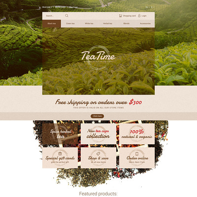 Tea Time OpenCart Template (OpenCart theme for selling tea and coffee) Item Picture