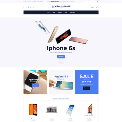 Tech Gadget WooCommerce Theme (WooCommerce theme selling electronics) Item Picture