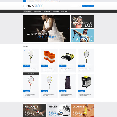 Tennis Gear OpenCart Template (OpenCart theme for sports, gym, and fitness stores) Item Picture