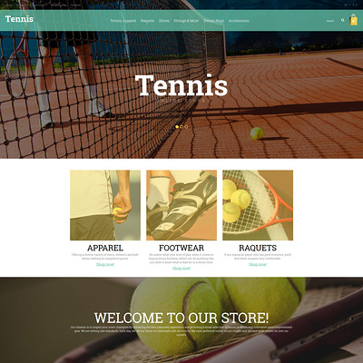 Tennis Responsive OpenCart Template (OpenCart theme for sports, gym, and fitness stores) Item Picture