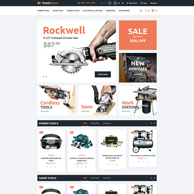 Tools Store OpenCart Template (OpenCart theme for selling tools) Item Picture