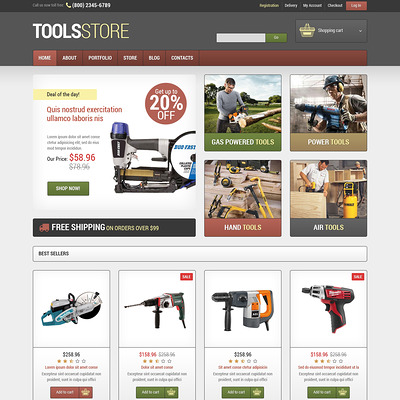 Tools & Equipment Responsive WooCommerce Theme (WooCommerce theme selling tools) Item Picture