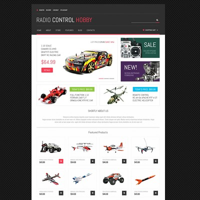 Toy Store Responsive WooCommerce Theme (WooCommerce theme selling toys for kids) Item Picture