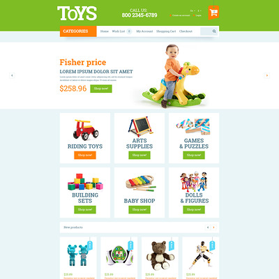 Toys for Kids OpenCart Template (OpenCart theme for kids toys) Item Picture