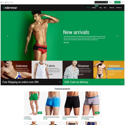 Underwear Fashion Shopify Theme (parallax Shopify theme) Item Picture
