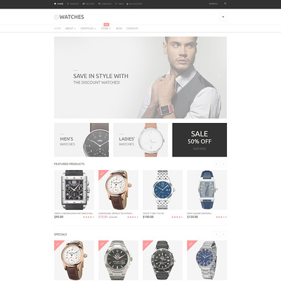 Watches Online Store WooCommerce Theme (WooCommerce theme for selling jewelry and watches) Item Picture
