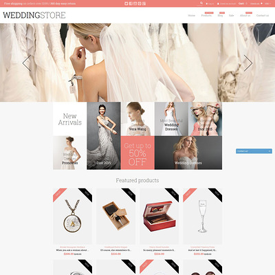 Wedding Store Shopify Theme (parallax Shopify theme) Item Picture
