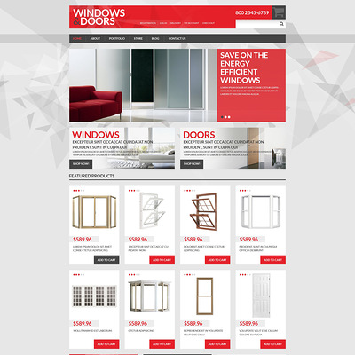 Windows Doors Store WooCommerce Theme (WooCommerce theme for home improvement and construction supplies) Item Picture