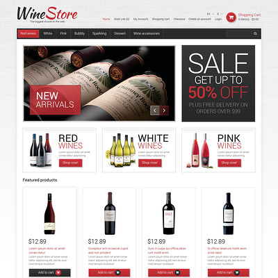 Wine Responsive OpenCart Template (OpenCart theme for selling liquor, wine, and beer) Item Picture