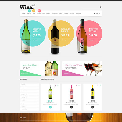 Wine Store WooCommerce Theme (WooCommerce theme for selling wine) Item Picture