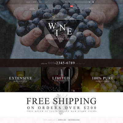 Wine WooCommerce Theme (WooCommerce theme for selling wine) Item Picture