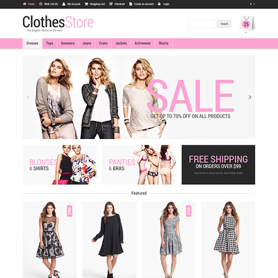Woman Fashion OpenCart Template (OpenCart theme for clothing stores) Item Picture