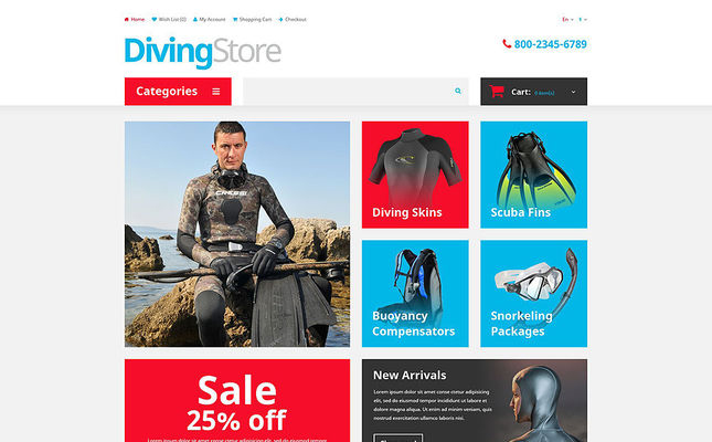 best marine yachting fishing diving opencar themes stores feature