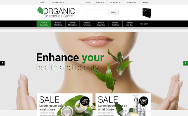 best opencart themes cosmetics hair products perfumes selling feature