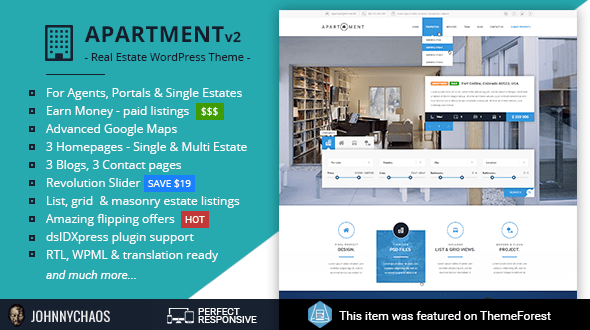 Apartment WP (real-estate WordPress theme) Item Picture