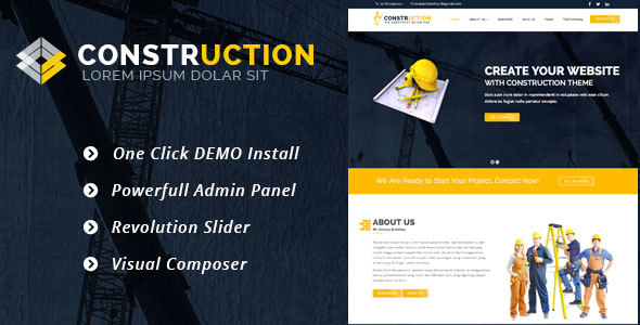 Construction (real-estate WordPress theme) Item Picture