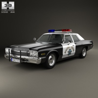 Dodge Monaco Police 1974 (3D model of a car, vehicle, or automobile) Item Picture