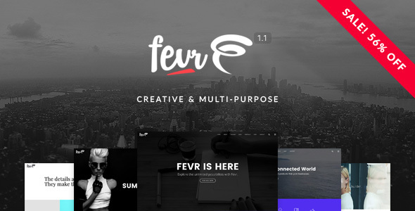 Fevr (WordPress theme for photographers) Item Picture