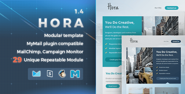 Hora  (email template) Item Picture