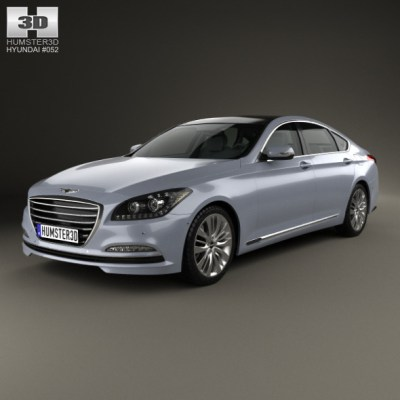 Hyundai Genesis (Rohens) 2015 (3D model of a car, vehicle, or automobile) Item Picture