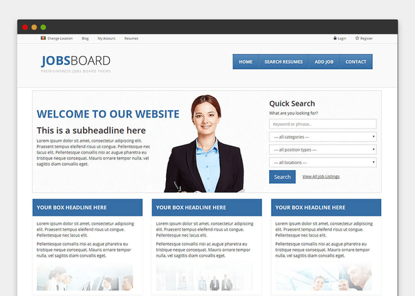 Job Board Theme (WordPress theme) Item Picture