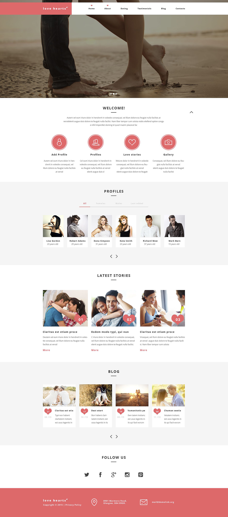Love Hearts WordPress Theme (WordPress theme) Item Picture