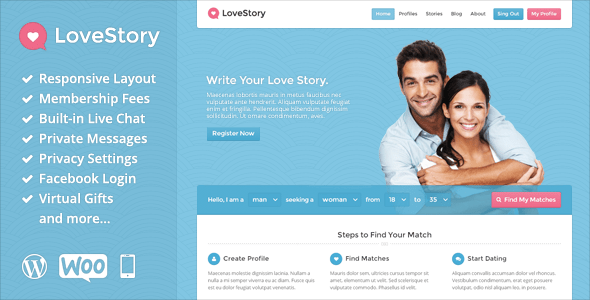 LoveStory (WordPress theme) Item Picture