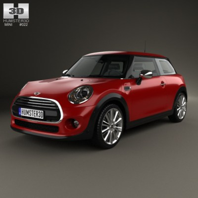 Mini Cooper hardtop 2014 (3D model of a car, vehicle, or automobile) Item Picture