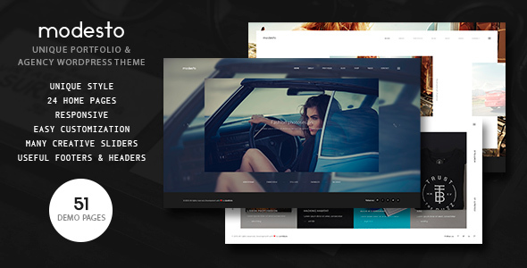 Modesto (WordPress theme for photographers) Item Picture