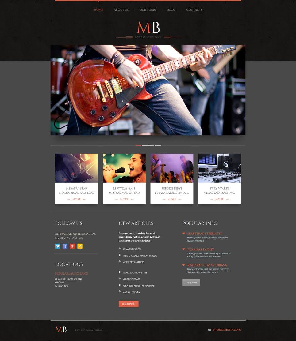 Music Band Responsive WordPress Theme (WordPress theme for radio stations) Item Picture