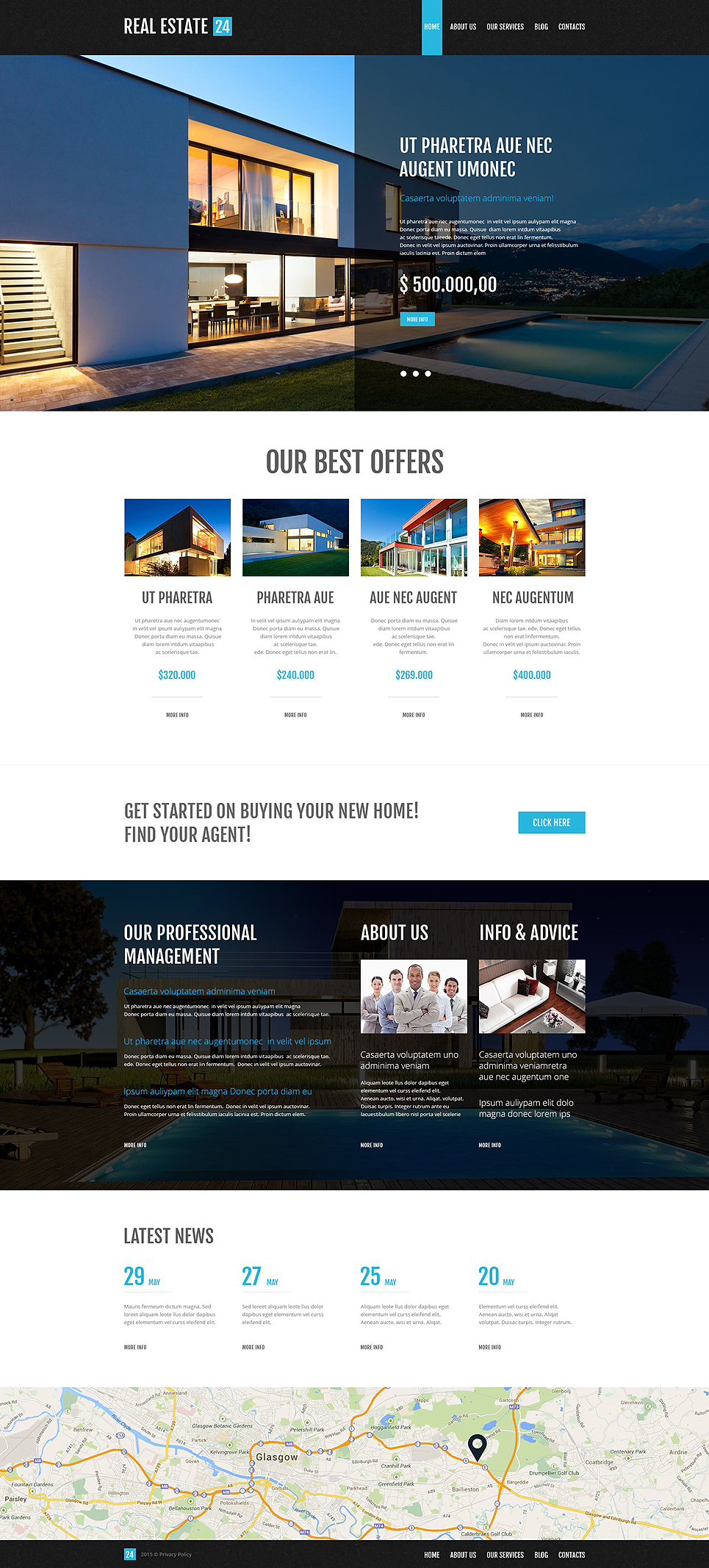 Realtor Services WordPress Theme (real-estate WordPress theme) Item Picture